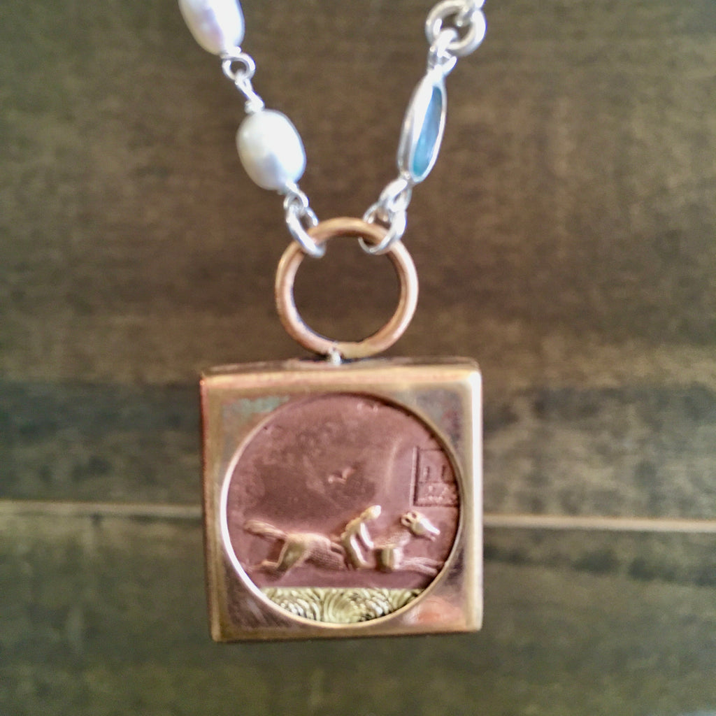 VICTORIAN HORSE AND RIDER NECKLACE