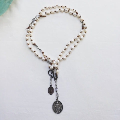 Madonna Medal Necklace