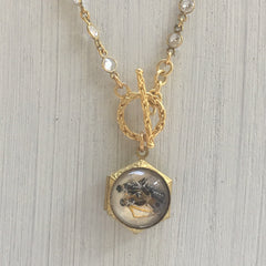 Vintage Intaglio Locket Necklace