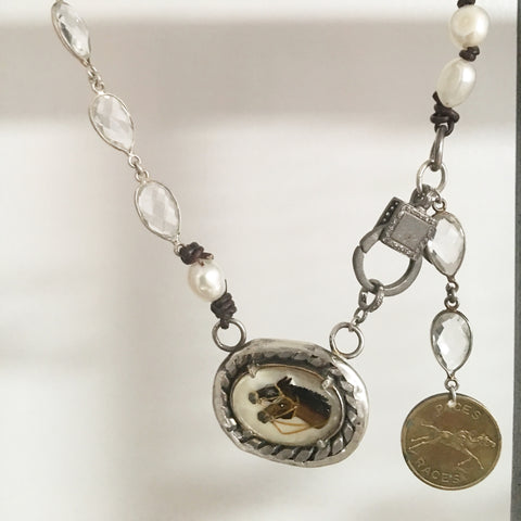 INTAGLIO HORSEHEAD NECKLACE