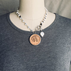 BICENTENNIAL BEAR NECKLACE