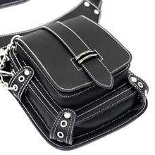 Load image into Gallery viewer, Steampunk Thigh Bag Motorcycle Bag Rock Retro Gothic Goth Shoulder Waist Bag Leg Hip Bag