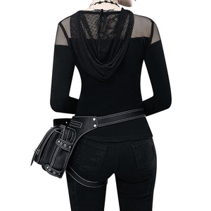 Steampunk Thigh Bag Motorcycle Bag Rock Retro Gothic Goth Shoulder Waist Bag Leg Hip Bag