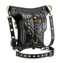 Load image into Gallery viewer, Steampunk PU Leather Waist Bag Vintage Gothic Fanny Waist Utility Belt Leg Bag