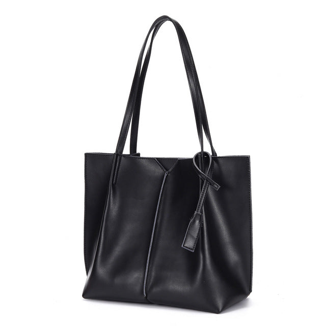 Women Soft Genuine Leather Tote Bag, 2020 New Ladies Shoulder Bag for Shopping