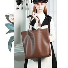 Load image into Gallery viewer, Genuine Leather Totes Bag Fashion Handbags and Purses for Women and Ladies