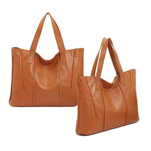 Tote Bag for Women with Zipper - Large Ladies Shoulder Handbag 100% Genuine Leather
