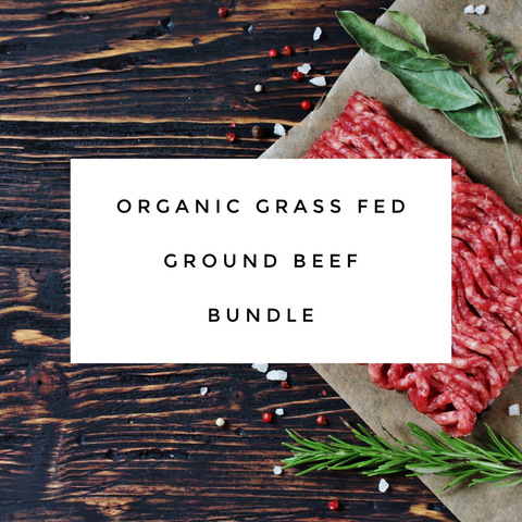 Beef Box Bundle - Organic Grass Fed Ground Beef 8-20 lbs options