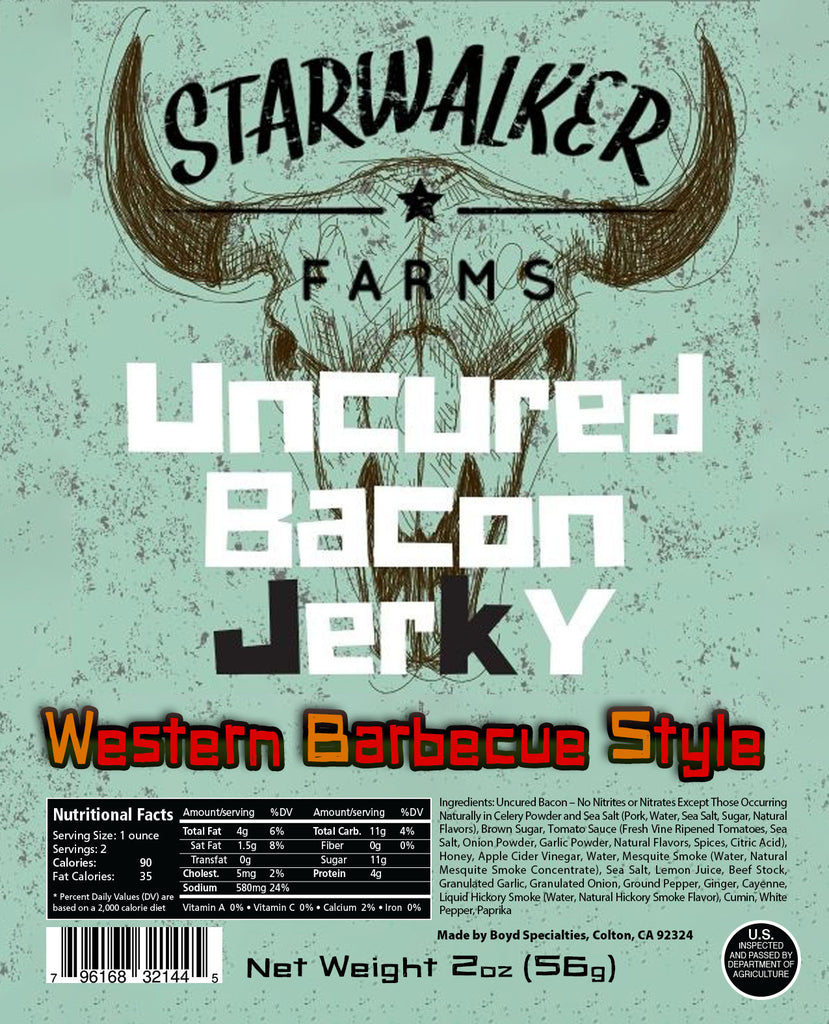 Western Barbecue Style BACON Jerky