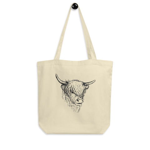 Scottish Highland Cow Eco Tote Bag - Organic Cotton