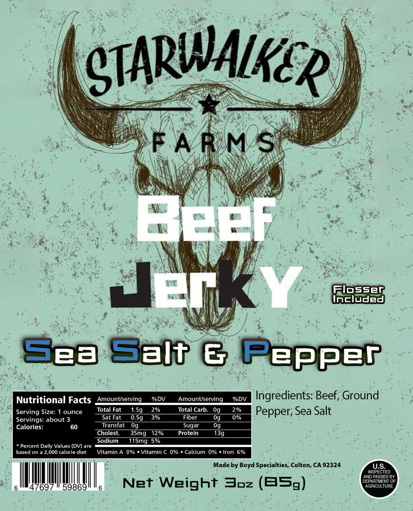 Sea Salt & Pepper Beef Jerky - NEW