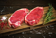 Load image into Gallery viewer, Organic Grass Fed New York Strip Steak 10-12 oz