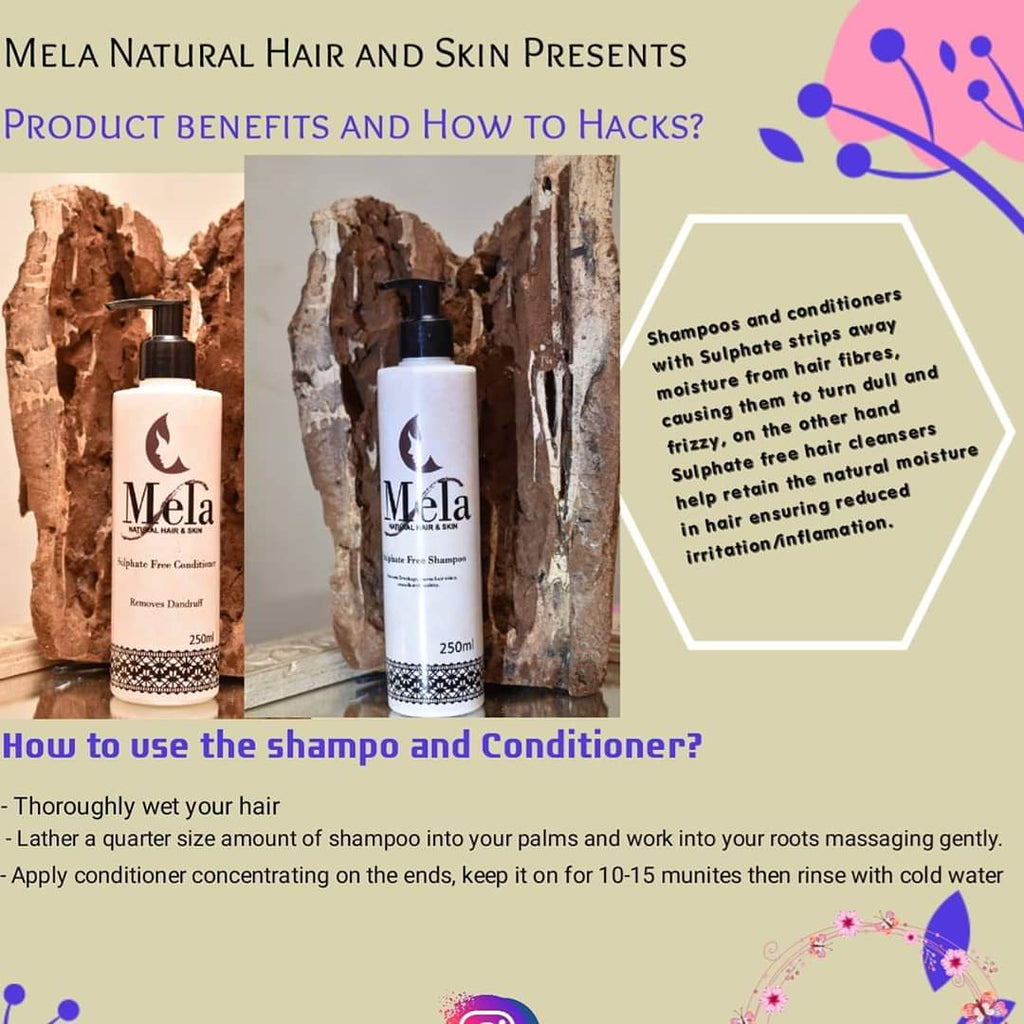 How to use our Sulphate Free Shampoo and Conditioner