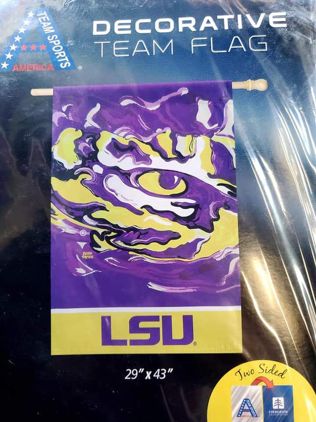 LSU Tiger Eye Purple Flag