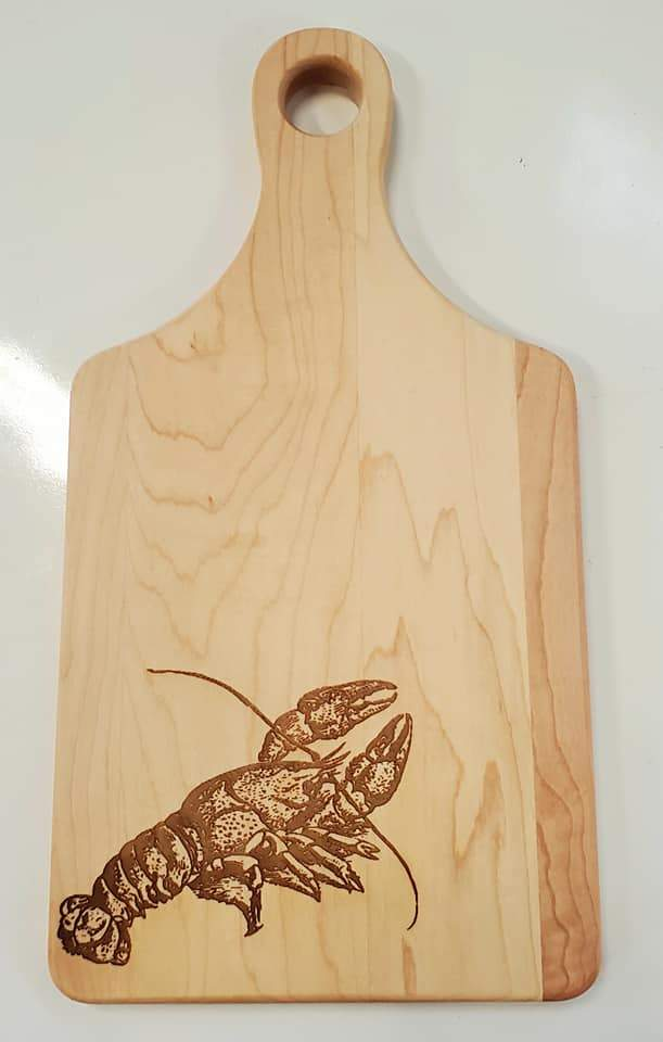 Crawfish Cutting Board