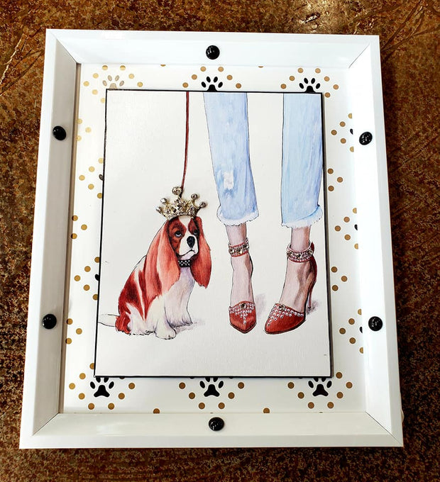 Crowned Basset Hound Fashion Frame