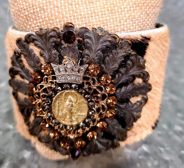 Crowned Coin Wrist Cuff