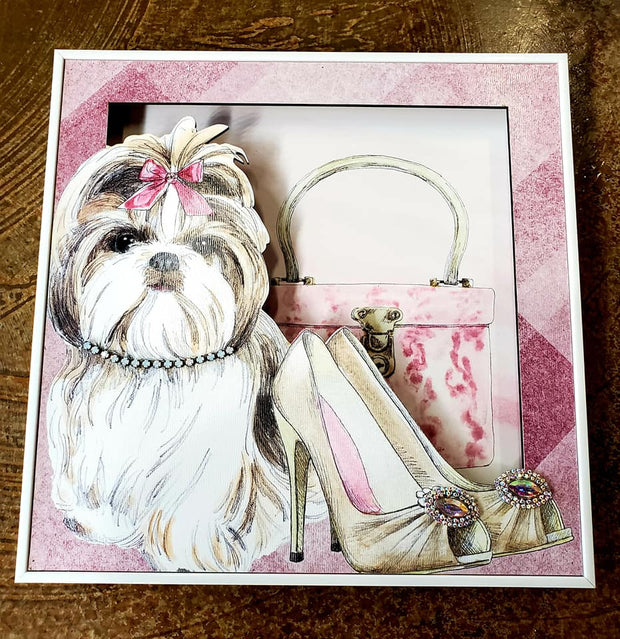 Shih Tzu & Shoes Fashion Frame