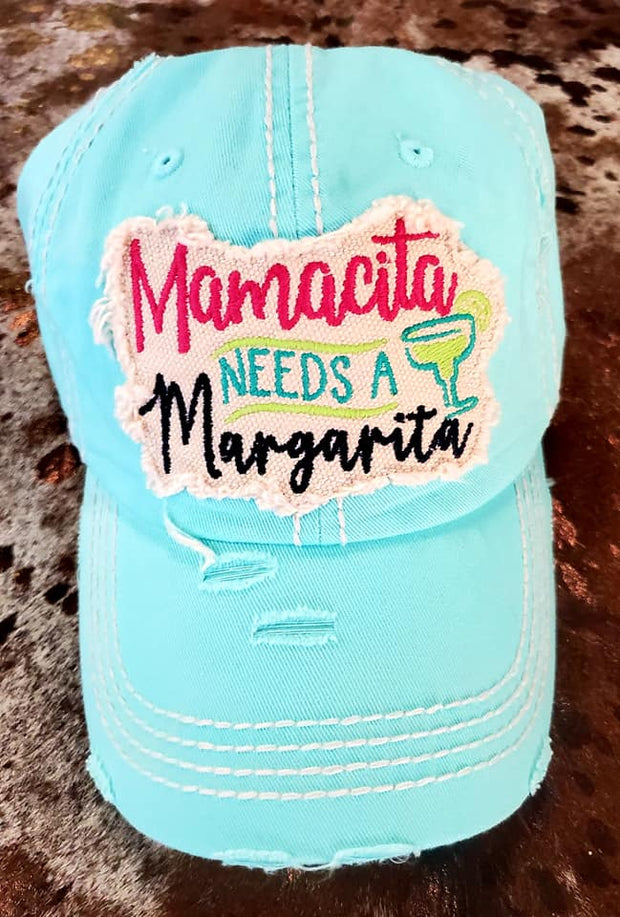 Mamacita Needs a Margarita Ladies Ball Cap