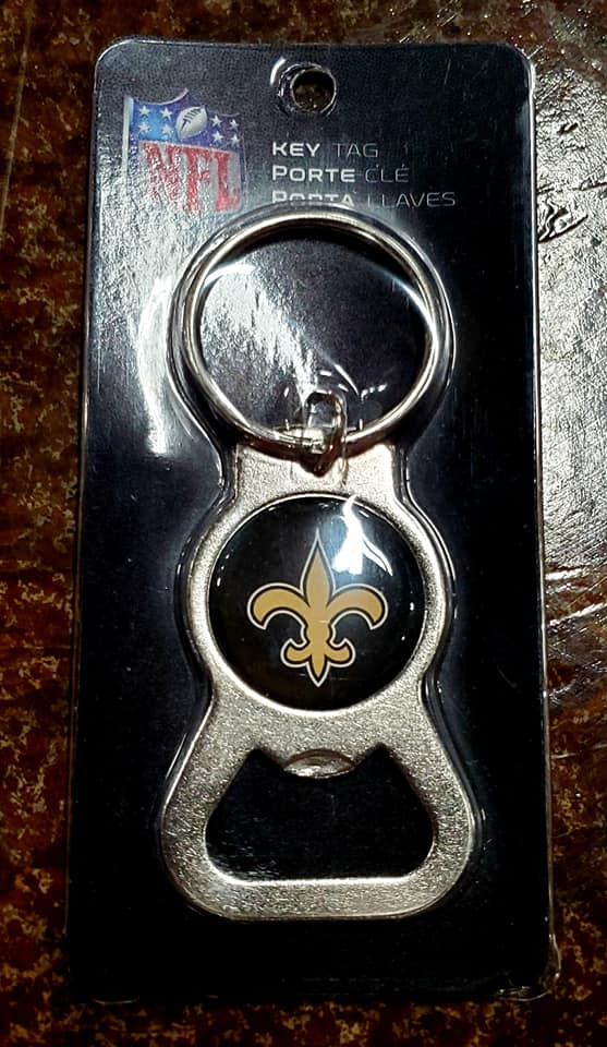 Saints Keyring Bottle Opener