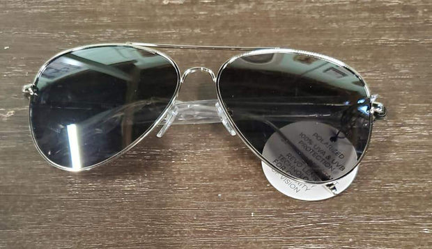Silver Framed with Black Tint Sunglasses