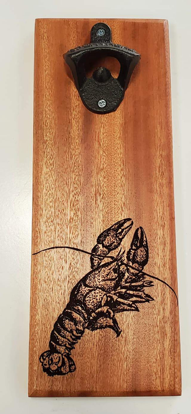 Crawfish Wall Mount Bottle Opener