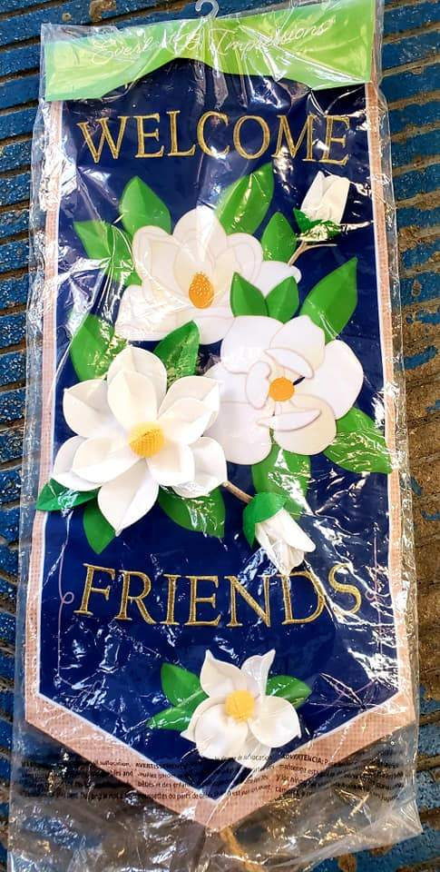 Welcome Friends Large Garden Flag