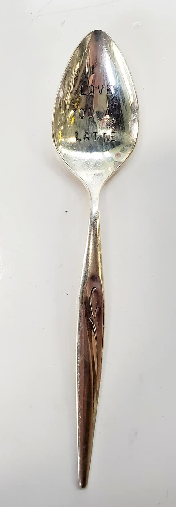 """I Love You a Latte"" Quote Spoon"