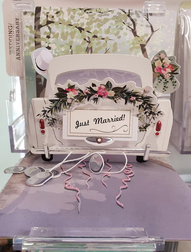 Just Married Pop Up Card