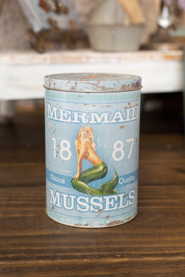 Mermaid Mussels Tin Canister