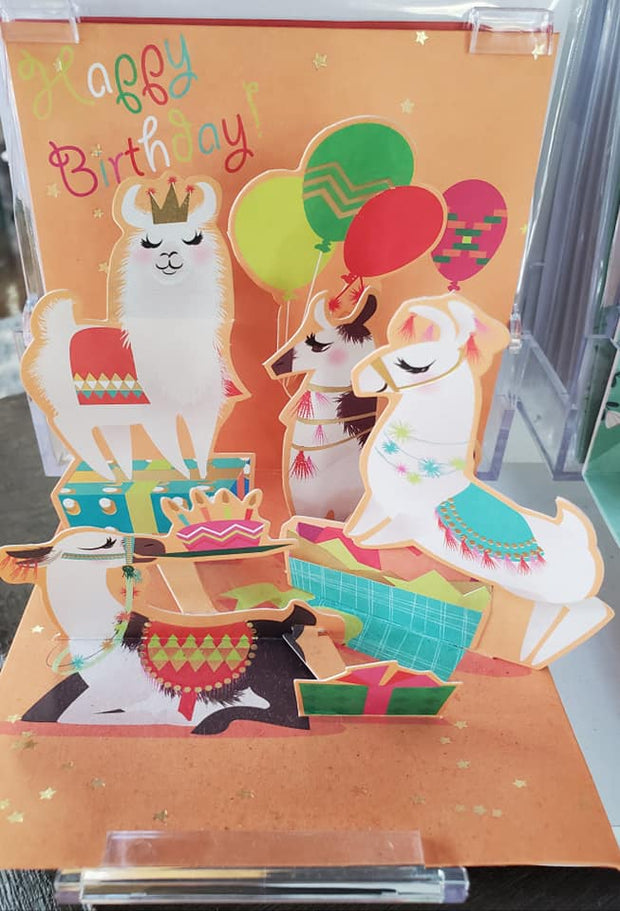 Party Llama Pop Up Birthday Card