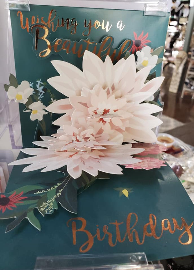 Beautiful Lotus Pop Up Birthday Card