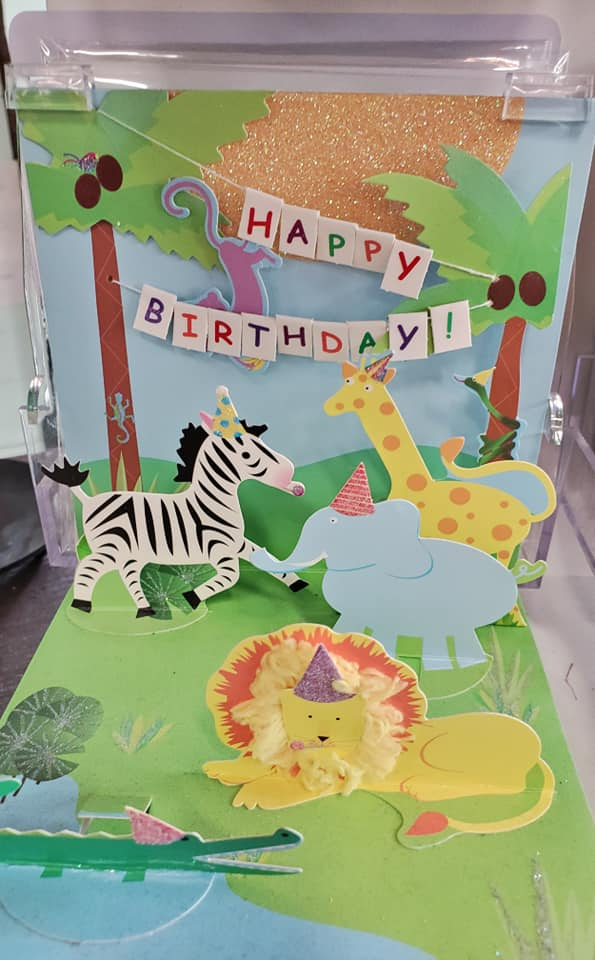 Safari Pop Up Birthday Card