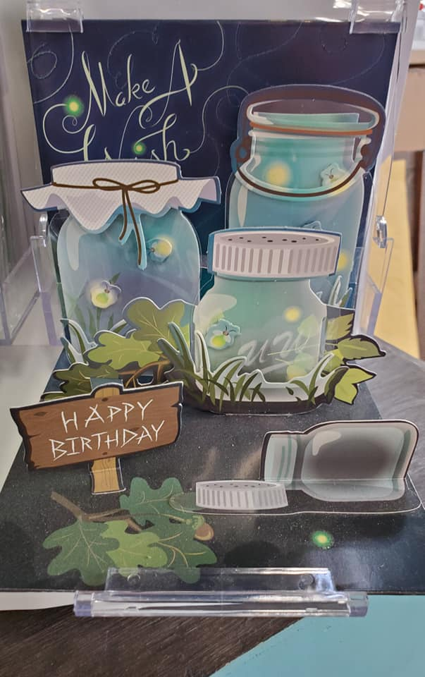 Fireflies Pop Up Birthday Card