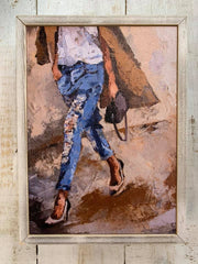 Walking Torn Jeans Fashion Canvas