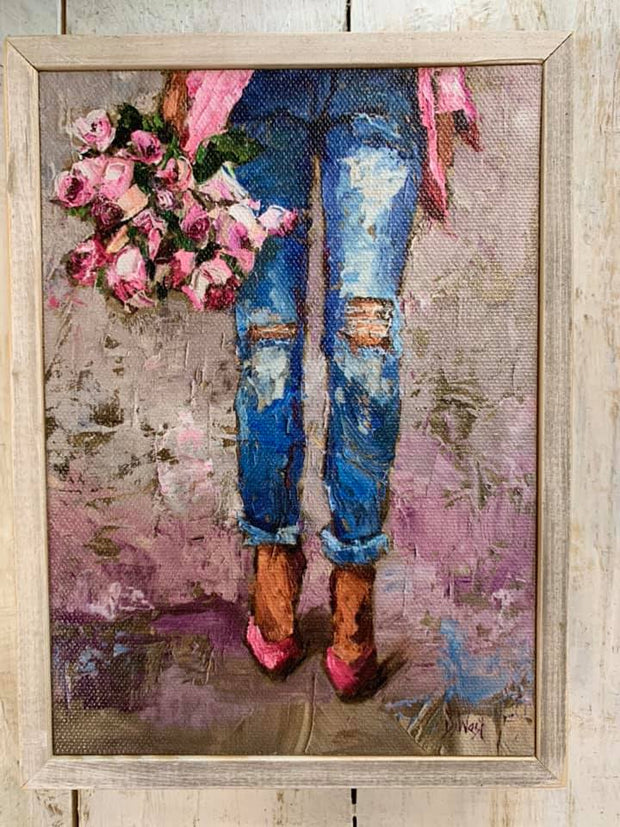 Walking with Roses Fashion Canvas