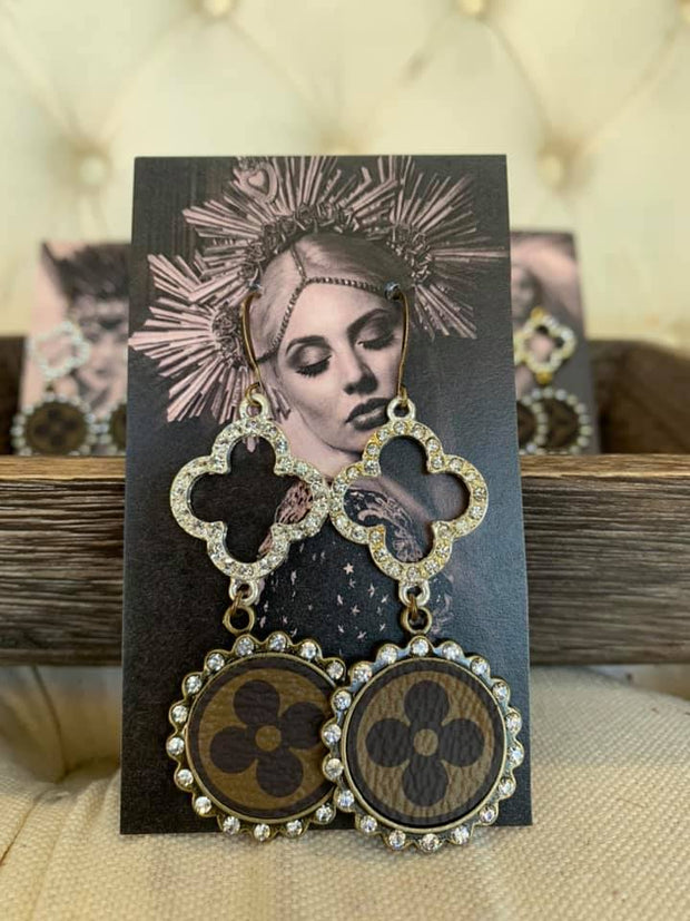 LV Repurposed Earrings