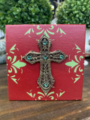 Mini Cross Home Decor - Cross On Stencil