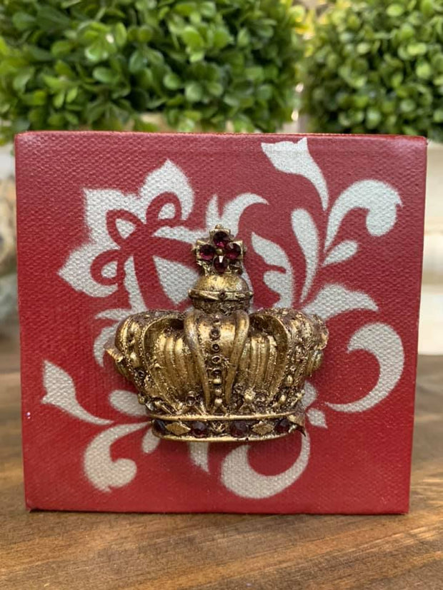 Mini Crown Home Decor - Crown on Stencil