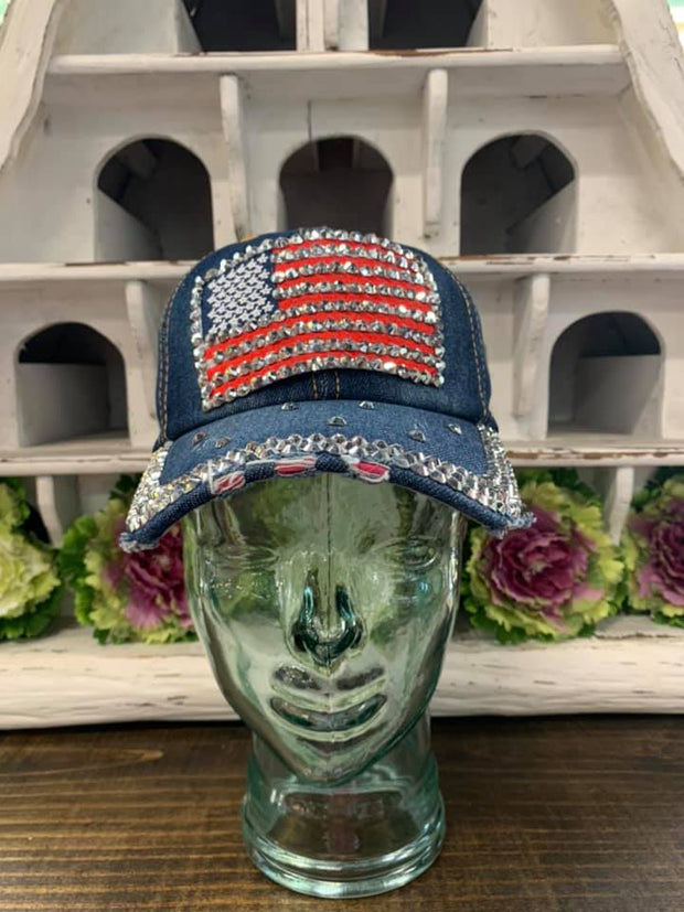 Vintage USA Flag Ball Cap