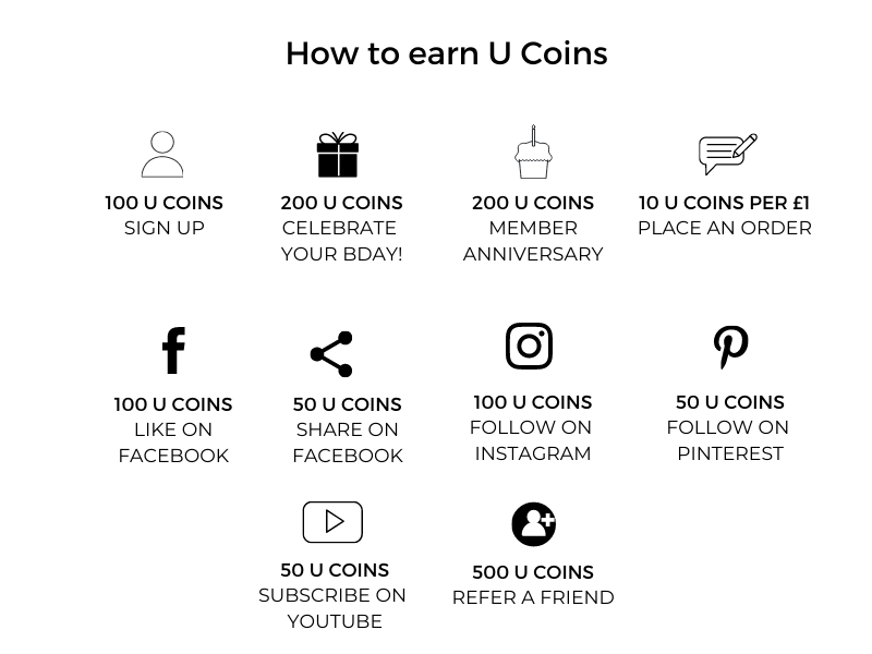 ways to earn points with U coins - uncu london