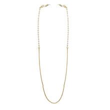 Load image into Gallery viewer, Face Mask Necklace Chain - Gold and Pearl - UNCU London™