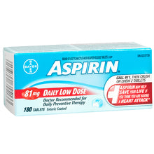 Aspirin Coated Tablet 81mg X180 Tablets
