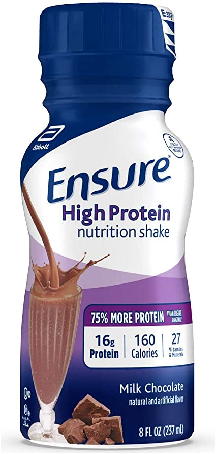 Ensure High Protein Chocolate Flavor Ready to Drink 6x235ml Cartons