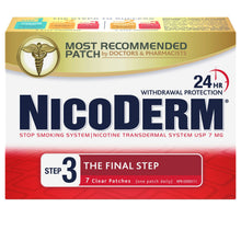 Nicoderm Patch Rx (Step3) 7mg  X7 Patches