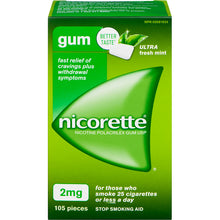 Nicorette Gum Ultra 2mg Mint Rx  X105 Pieces