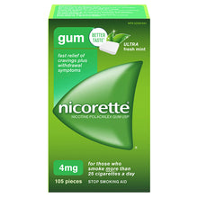 Nicorette Gum Ultra 4mg Mint  Rx  X105 Pieces