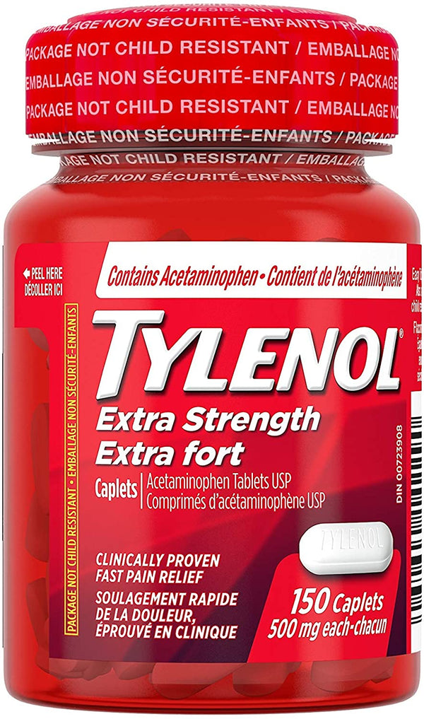 Tylenol Extra Strength  Easy Open 500mg Caplets  X150 Caplets
