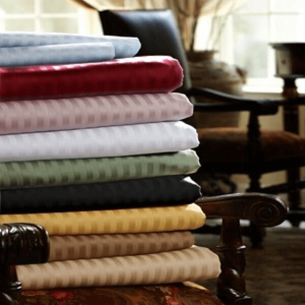 A stack of striped REB sheets