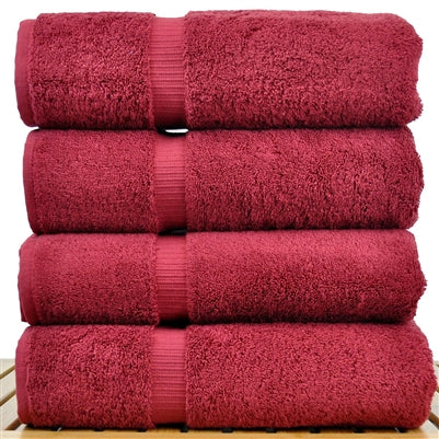 Burgundy Turkish cotton towels by REB